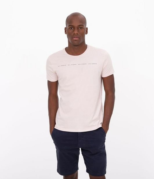 Oferta de Camiseta Slim Estampa All Rights  por R$19,9