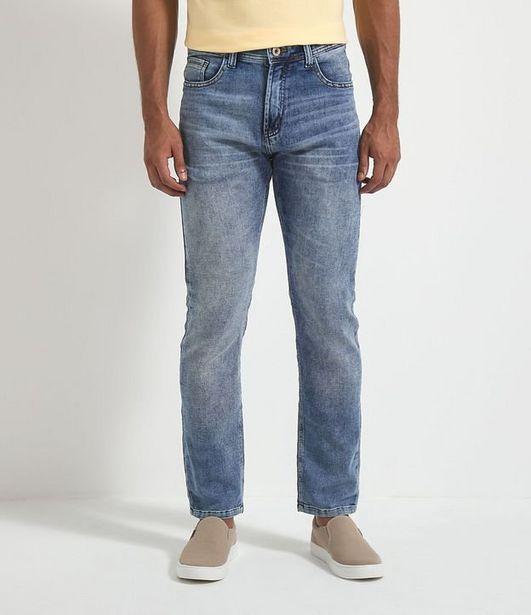 Oferta de Calça Jeans Slim Lisa com Puídos  por R$49,9
