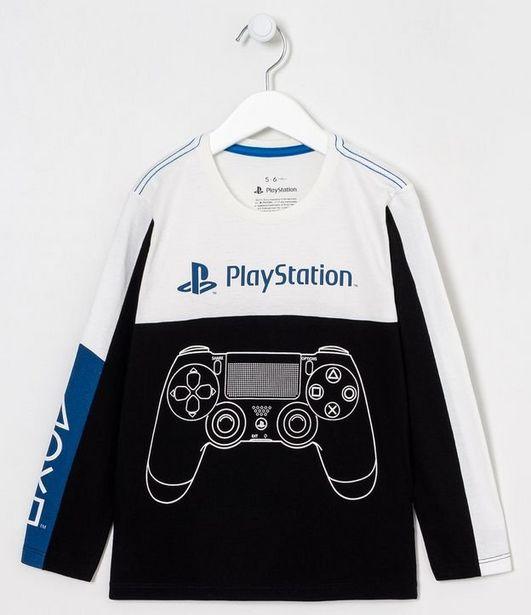 Oferta de Camiseta Infantil Playstation - Tam 5 a 14 anos  por R$29,9