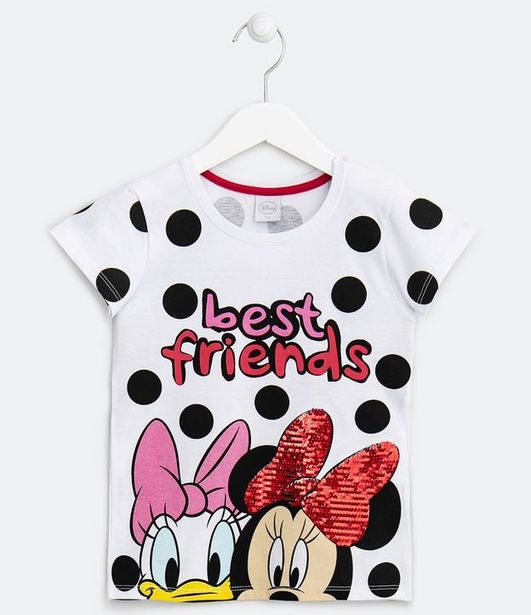 Oferta de Blusa Infantil Estampa Minnie e Margarida Best Friends - Tam 4 a 14 anos  por R$19,9