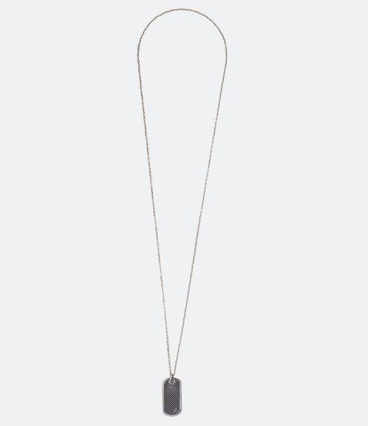 Oferta de Colar Masculino com Placa de Metal  por R$9,9