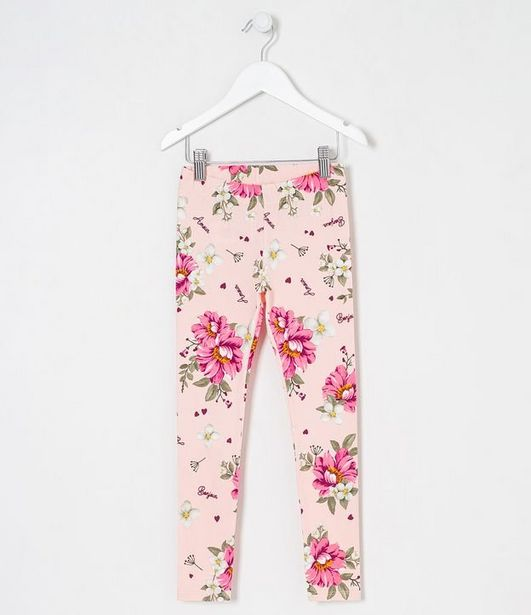 Oferta de Legging Infantil Estampa Floral - Tam 5 a 14 anos  por R$29,9