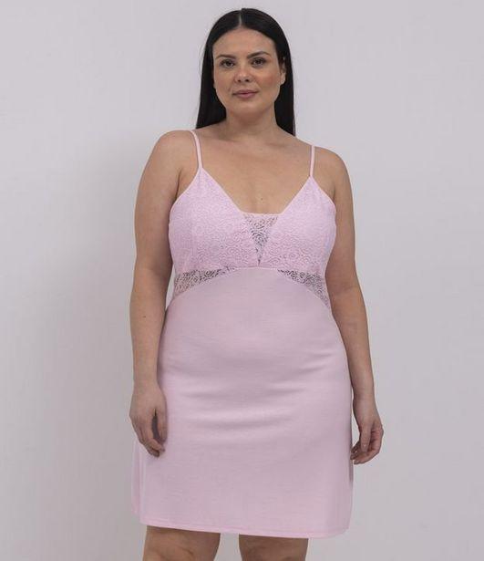 Oferta de Camisola Alcinha Lisa com Renda Curve & Plus Size  por R$95,92