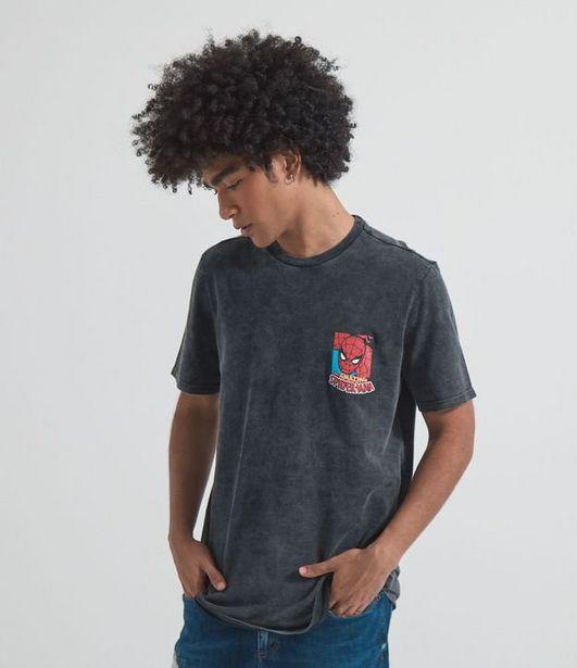 Oferta de Camiseta Marmorizada com Estampa Homem Aranha  por R$19,9