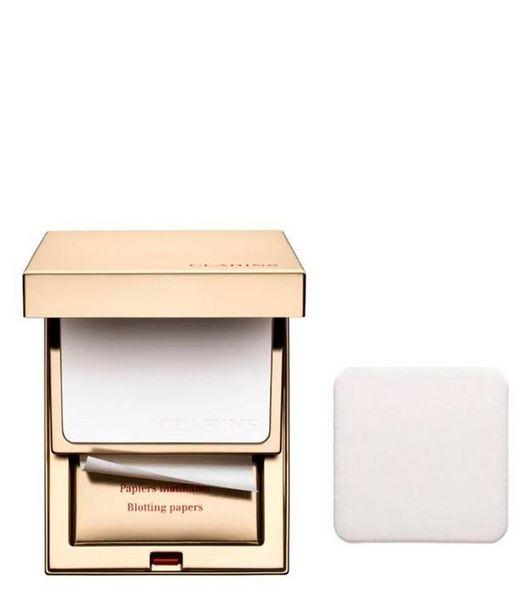 Oferta de Kit Clarins Perfect Skin Folhas Antioleosidade + Pó Maquiagem  por R$424,9
