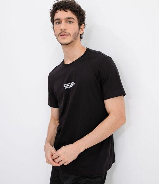 Oferta de Camiseta Manga Curta em Algodão com Estampa  por R$19,9