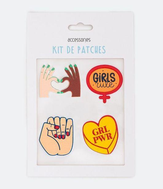 Oferta de Kit 4 Patches em Poliéster Estampado Girl Power  por R$5,9