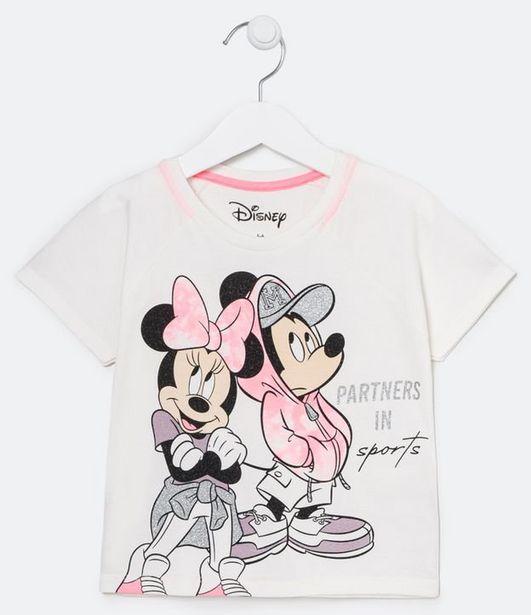 Oferta de Blusa Infantil Mickey e Minnie - Tam 4 a 12 anos  por R$19,9