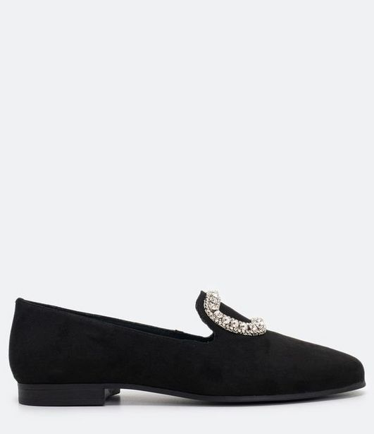 Oferta de Sapato Mocassim Feminino com Detalhe em Strass Satinato  por R$39,92