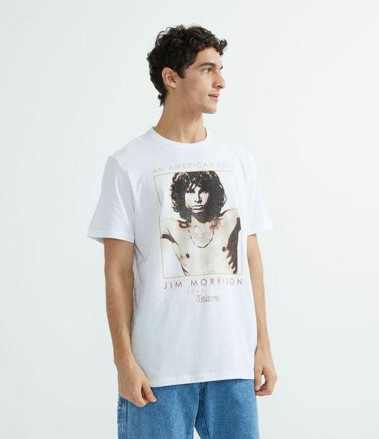 Oferta de Camiseta Manga Curta com Estampa Localizada The Doors  por R$29,9