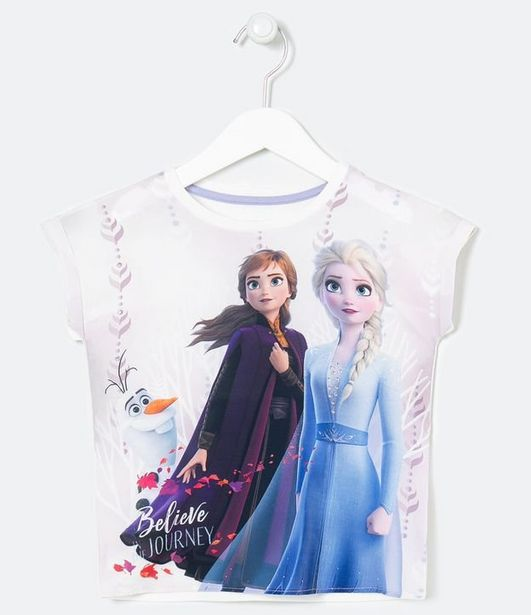 Oferta de Blusa Infantil Estampa Frozen - Tam 2 a 10 anos  por R$19,9