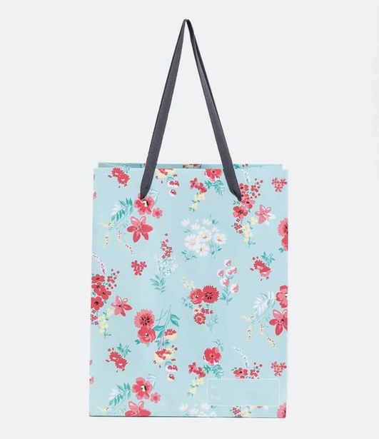 Oferta de Sacola Pequena para Presente Estampa Floral  por R$6,32