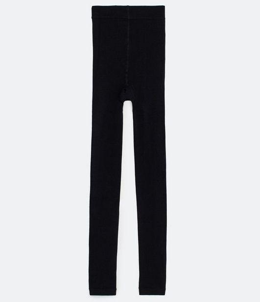 Oferta de Meia Calça Legging em Fleece Sem Estampa  por R$9,9
