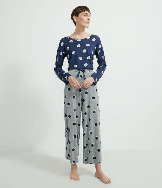 Oferta de Pijama Longo em Viscolycra Estampa Poá  por R$79,9