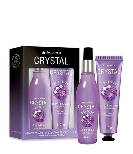 Oferta de Kit Colônia Phytoderm Crystal Ametista + Loção Iluminadora  por R$39,9