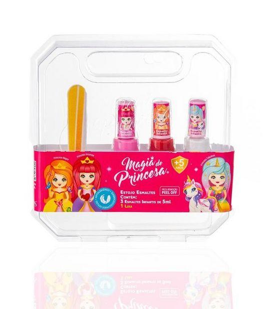 Oferta de Kit Infantil com 3 Esmaltes Princesas Fabulosa Inteligente e Amorosa Magia das Princesas  por R$39,2