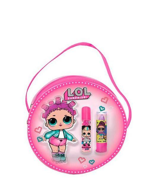 Oferta de Kit Bolsa Maquiagem Lol Surprise Batom + Brilho Labial  por R$39,92