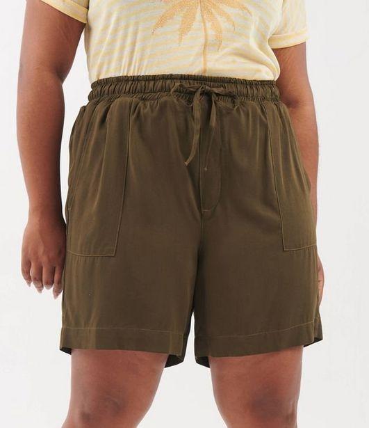 Oferta de Short com Amarração em Cargo Curve & Plus Size  por R$31,92