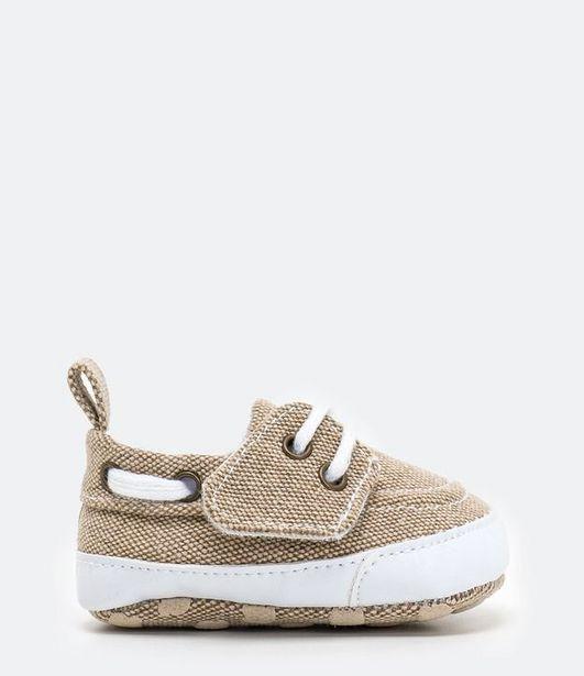 Oferta de Mocassim Infantil com Fechamento por Velcro - Tam 0 a 12 meses  por R$49,9