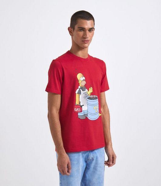 Oferta de Camiseta Manga Curta com Estampa Homer  por R$19,9