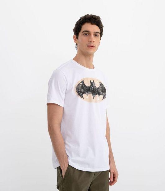 Oferta de Camiseta Masculina Manga Curta Estampa Batman  por R$29,9