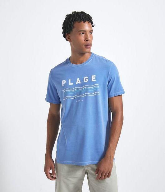Oferta de Camiseta Manga Curta com Estampa  por R$19,9