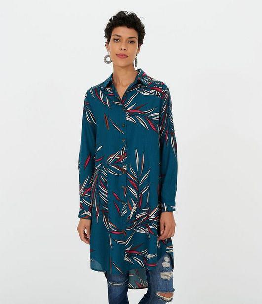 Oferta de Vestido Chemise Estampado  por R$79,9