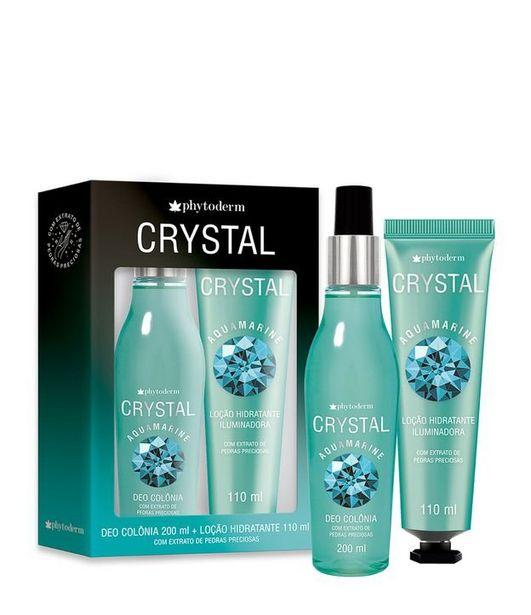 Oferta de Kit Colônia Phytoderm Crystal Aquamarine + Loção Iluminadora  por R$39,9