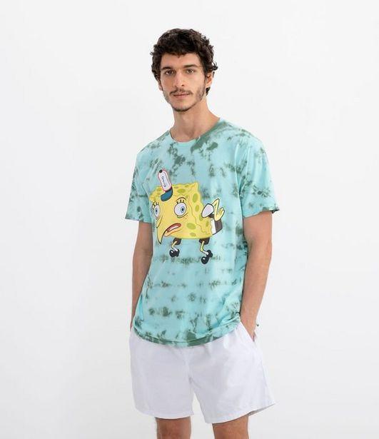 Oferta de Camiseta Estampa Bob Esponja Tie Dye  por R$19,9