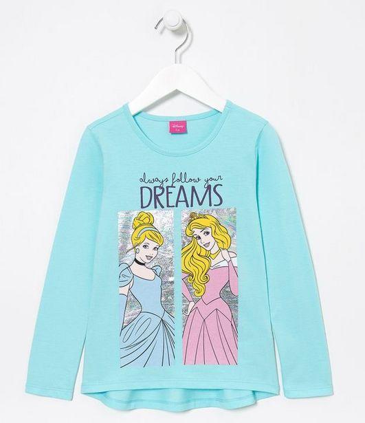Oferta de Blusa Infantil Princesas - Tam 2 a 10 anos  por R$19,9