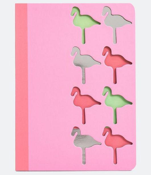 Oferta de Caderno com Estampa Vazada de Flamingos  por R$9,9