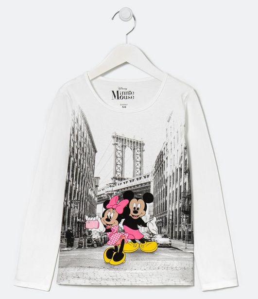Oferta de Blusa Infantil Mickey e Minnie NY - Tam 5 a 14 anos  por R$19,9