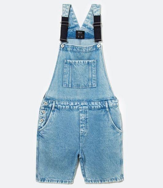 Oferta de Jardineira Jeans Curta  por R$99,9
