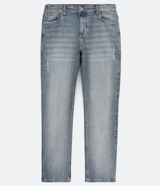 Oferta de Calça Jeans Slim com Puídos  por R$59,9