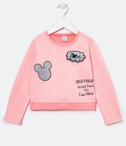 Oferta de Blusão Cropped em Moletinho Mickey - Tam 4 a 12 anos  por R$39,9