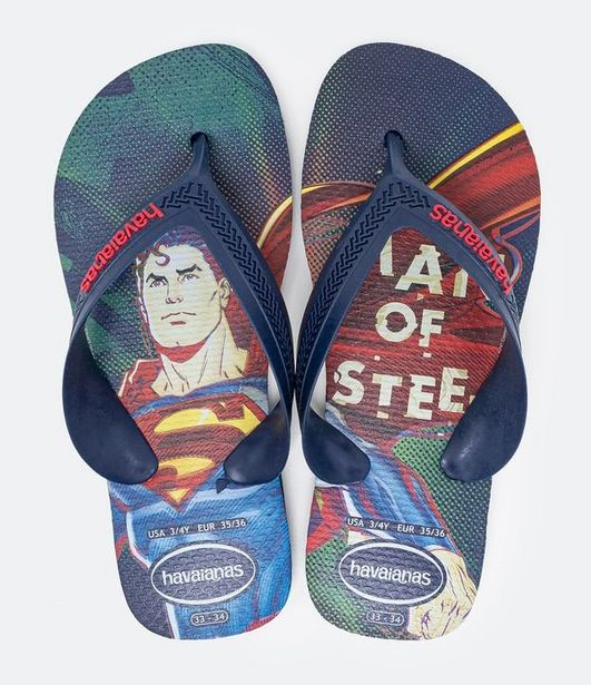 Oferta de Chinelo Infantil Max Heróis Superman Havaianas - Tam 23 ao 36  por R$19,9