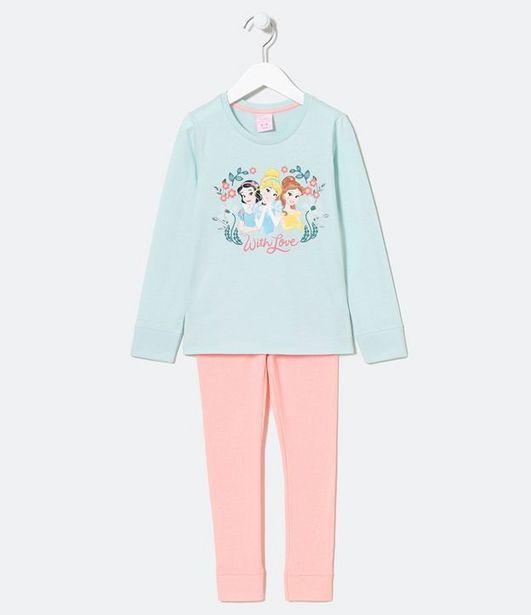 Oferta de Pijama Infantil Longo Estampa das Princesas - Tam 5 a 14 anos  por R$49,9