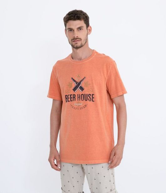 Oferta de Camiseta com Estampa Beer House  por R$19,9