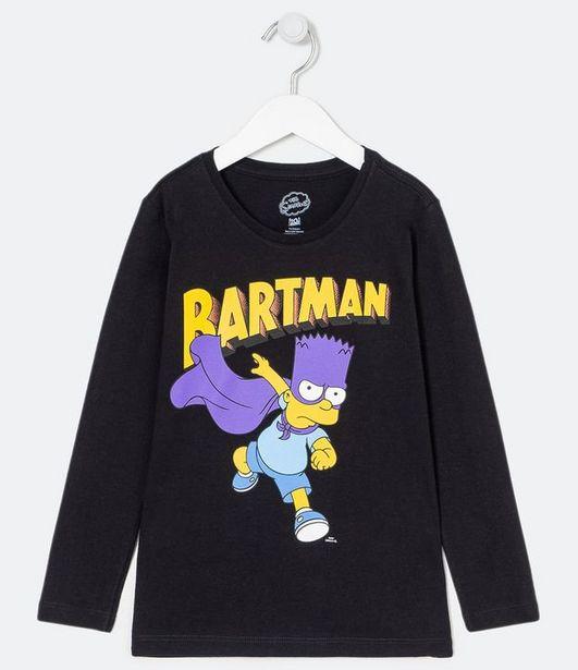 Oferta de Camiseta Infantil Estampa Bartman - Tam 5 a 14 anos  por R$19,9