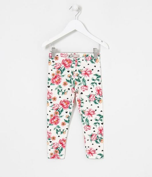 Oferta de Legging Infantil em Cotton Estampa Floral - Tam 1 a 5 anos  por R$19,9