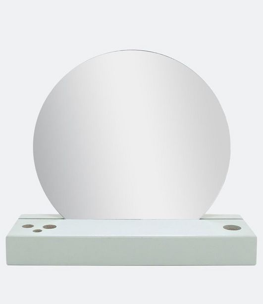 Oferta de Espelho de Vidro com Base Minimal  por R$39,9