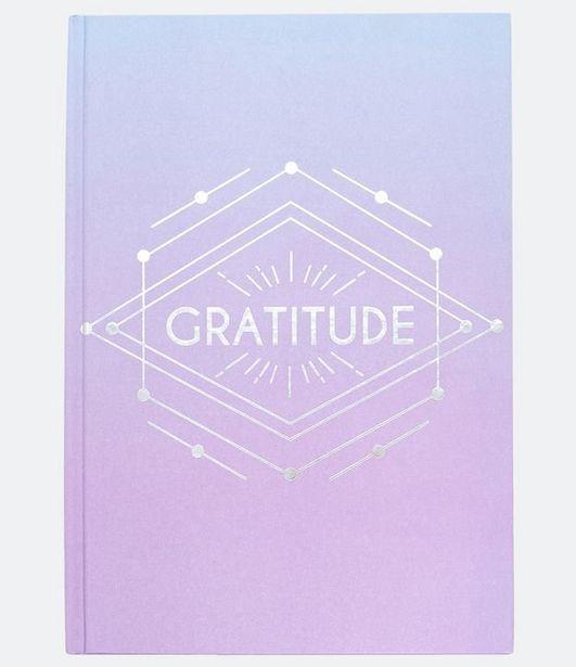 Oferta de Caderno Degradê com Estampa Gratitude  por R$5,9