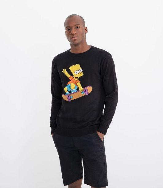 Oferta de Sueter em Tricô Estampa do Bart Simpsons  por R$59,9