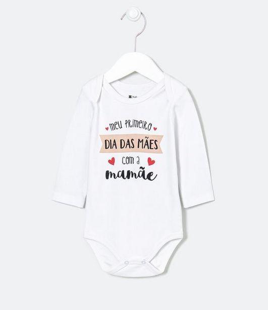 Oferta de Body Infantil Dia das Mães - Tam 0 a 18 meses  por R$19,9