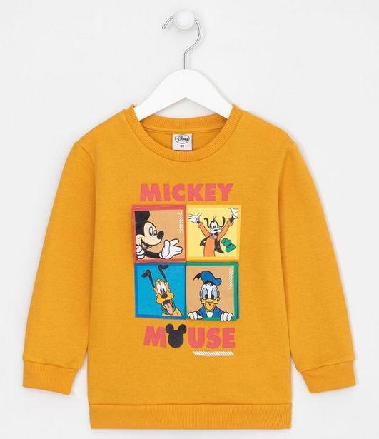 Oferta de Blusão Moletom Infantil Estampa Mickey Mouse - Tam 1 a 4 anos  por R$31,92