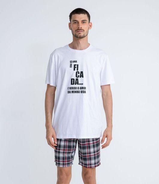 Oferta de Pijama Curto Estampa Namorados  por R$19,9