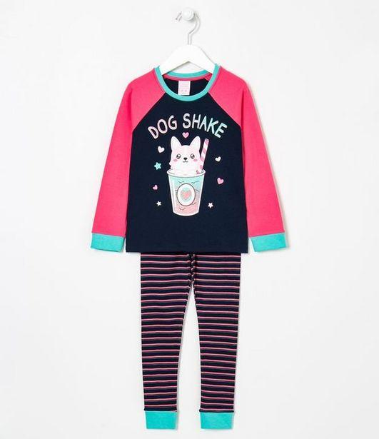 Oferta de Pijama Infantil Estampa Dog Shake - Tam 5 a 14 anos  por R$19,9