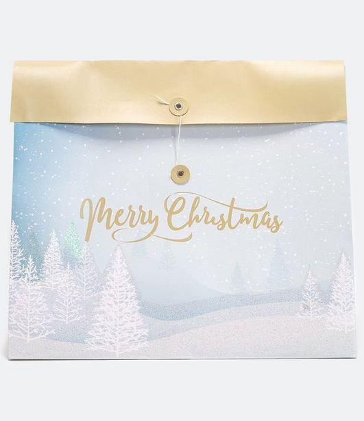 Oferta de Embalagem de Presente Estampa Localizada Merry Christmas  por R$2,9