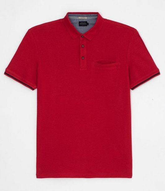 Oferta de Camiseta Polo Manga Curta Texturizada  por R$39,9
