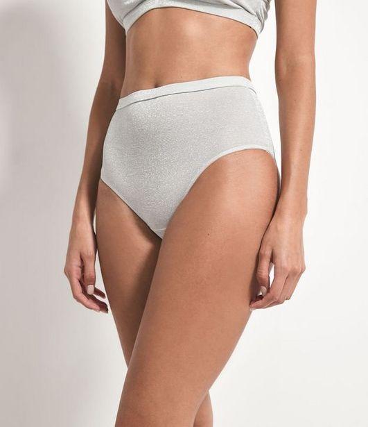Oferta de Calcinha Hot Pants Lisa em Fio Metalizado  por R$9,9